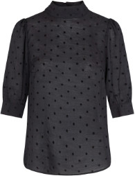 Jagger Co'couture Dot Blouse - S (36-38) | polyester | black - Black/Black