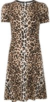 Carolina Herrera cheetah print dress