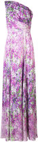 Badgley Mischka orchid single shoulder gown - women - Polyester - 2
