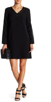 Julia Jordan Faux Leather Eyelet Shift Dress