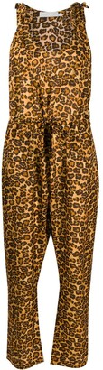 Zimmermann Amelie leopard print jumpsuit