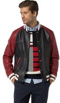 Tommy Hilfiger Contrast Leather Varsity Jacket