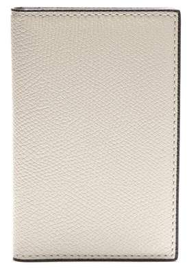 Valextra Bi-fold Leather Cardholder - Mens - White