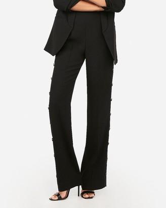 Express High Waisted Side Button Wide Leg Pant
