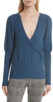 Tracy Reese Women's Pointelle Knit Surplice Sweater