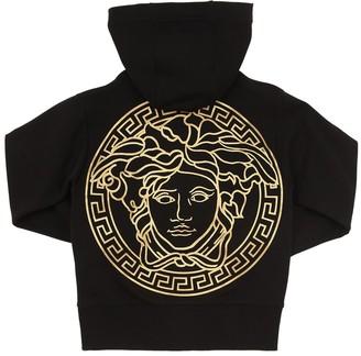 Versace Zip-up Cotton Sweatshirt Hoodie