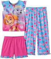 Nickelodeon Paw Patrol Little Girls 3 Piece Pajama Set, Toddlers