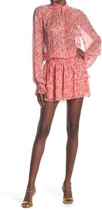 Ramy Brook Collin Paisley Silk Chiffon Blouson Dress