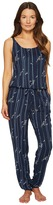 Emporio Armani Printed Viscose Loungewear Sleeveless Playsuit Women's Jumpsuit & Rompers One Piece