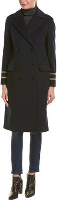 Cinzia Rocca Icons Cinzia Rocca Long Wool & Cashmere-Blend Coat