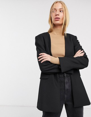 And other stories & tailored wool mix blazer in black
