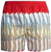 Valentino Feather-print swim shorts