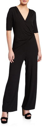 Nic+Zoe Plus Size Eaze Twist Short-Sleeve Jumpsuit