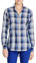 Lauren Ralph Lauren Petite Plaid Cotton Twill Button-Down Shirt