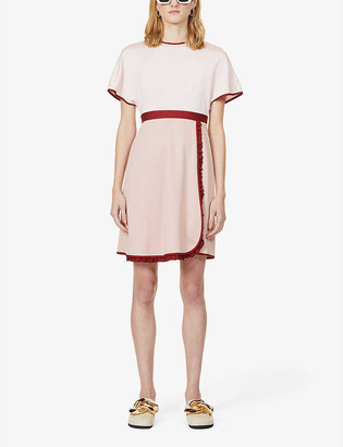 Ports 1961 Colour-block stretch-jersey midi dress