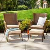 Threshold Ennismore 4-Piece Wicker Patio Conversation Seating Set