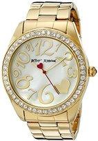 Betsey Johnson Women's BJ00249-27 Analog Display Quartz Gold Watch