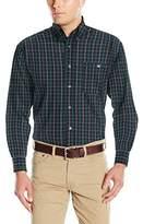 Wrangler Men's George Strait Black/Emerald One Pocket Long Sleeve Shirt