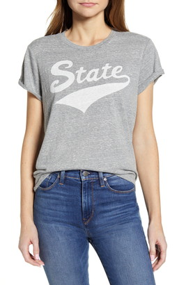 Lucky Brand State Relaxed Fit Roll Cuff Graphic Tee