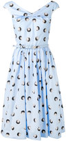 Blumarine polka dot printed sleeveless dress