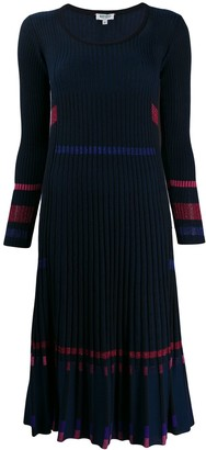 Kenzo pleated rib knit dress