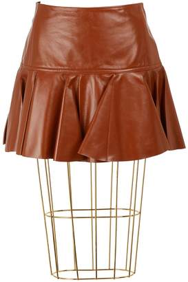 Chloé Leather mini skirt