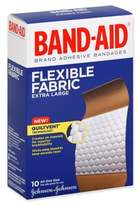 Johnson & Johnson 10-Count Band-Aid® Assorted XL Flex Fabric Bandages