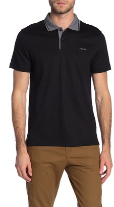 Calvin Klein Liquid Touch Marled Collar Knit Polo