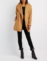 Charlotte Russe Wool-Blend Oversized Collar Coat