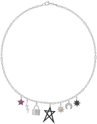 GABIRIELLE JEWELRY Silver Cz Necklace