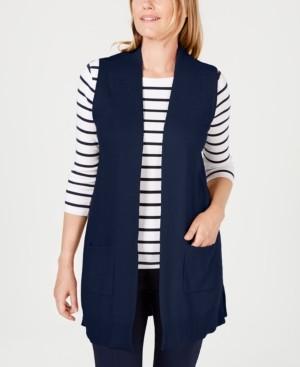 Karen Scott Plus Size Duster Vest, Created for Macy's