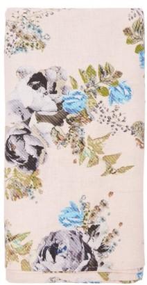 Preen by Thornton Bregazzi 200cm X 140cm Floral-print Linen Tablecloth - Pink Print