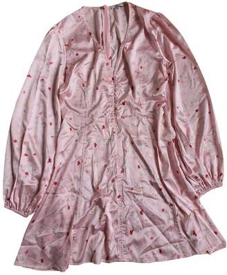 Ganni Spring Summer 2019 Pink Silk Dresses