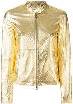 Desa Collection - metallic jacket - women - Cotton/Suede - 36