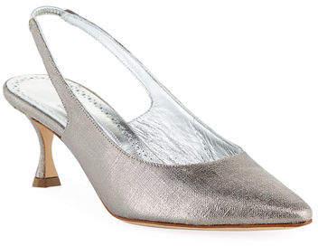 cd8367bd4c Low Heel Silver Slingbacks - ShopStyle