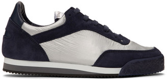 Comme des Garçons Shirt Navy and Silver Spalwart Edition Pitch Low Sneakers