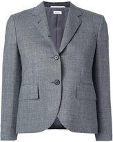 Thom Browne cropped sleeve short blazer - women - Silk/Wool - 38