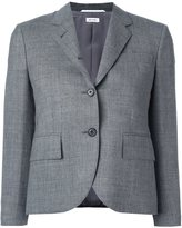 Thom Browne cropped sleeve short blazer - women - Silk/Wool - 44