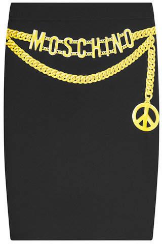 Moschino Printed Pencil Skirt
