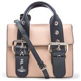 Vivienne Westwood Women's Alex Double Buckle Strap Handbag Nude