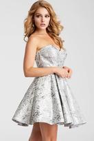Jovani JVN53203 Strapless Metallic Fit and Flare Dress