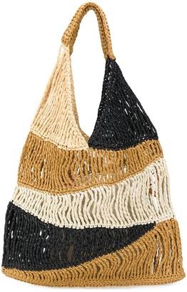 M Missoni Woven Colour Block Tote Bag