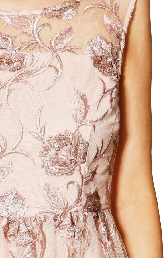 Thumbnail for your product : Gina Bacconi Mandy Embroidered Maxi Dress, Pink Gold