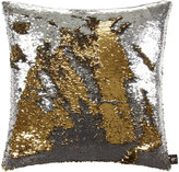 Aviva Stanoff Two Tone Mermaid Sequin Cushion - Silver/Gold - 50x50cm