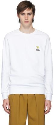 MAISON KITSUNÉ White Smiley Fox Patch Sweatshirt