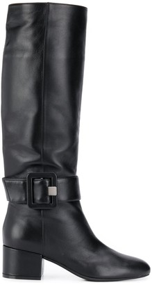 Sergio Rossi knee high buckle boots