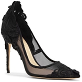 Imagine Vince Camuto Ophelia – Lace-appliquéd Mesh Pump