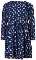 John Lewis Girls' Rabbit Woven Dress, Periscope