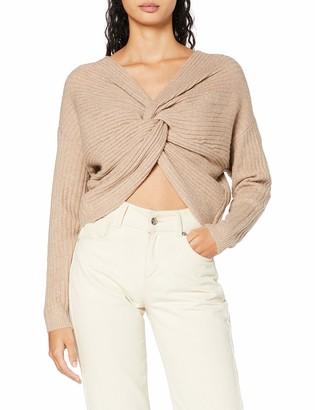 Pieces Women's PCSUNA LS Drape Back Knit BC Sweater