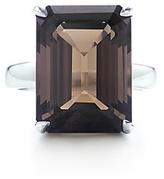 Tiffany Sparklers Smoky quartz cocktail ring
